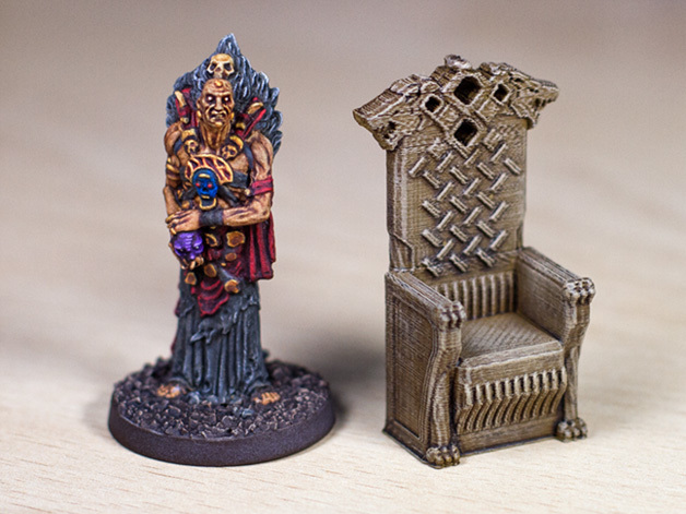 Wolf Throne  , printed and painted by  Black Demon