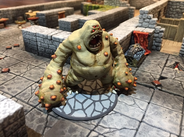 Cave Lurker  , printed and painted by  S T