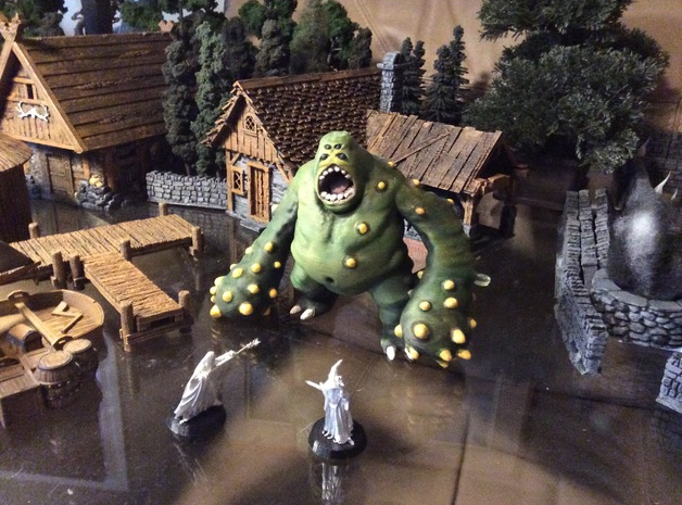 Cave Lurker  , printed and painted by  Crispy