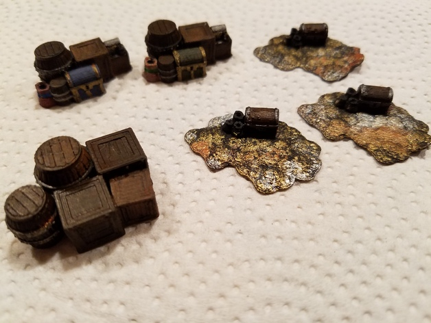 Fantasy Loot Markers  , printed and painted by  Joseph Mascaro