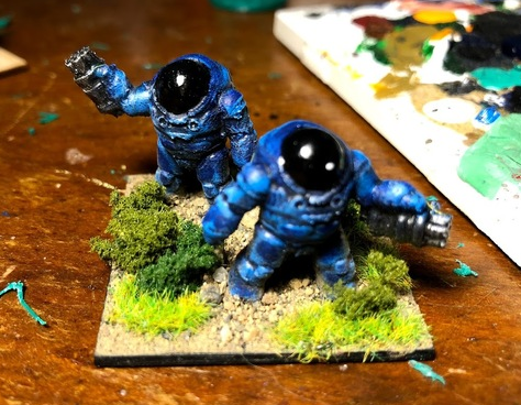 Freespace Hardsuit Elites  , printed and painted by  Timothy Colonna