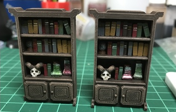 Wizard's Shelf  , printed and painted by  Thomas Franz