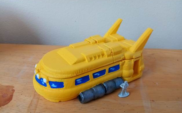 Space Bus  , printed and painted by  Troy Davidson