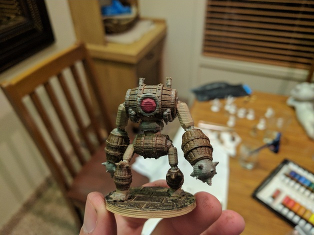 Barrel Golem  , printed and painted by  John Black