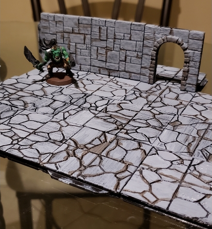 Z.O.D. Dungeon Tiles  , printed and painted by  Garrett Colas