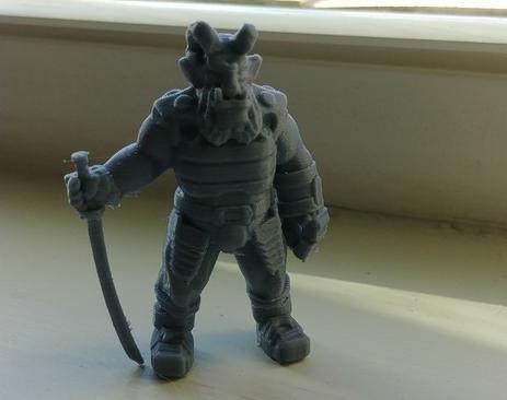 Troll Ronin  , printed by  Joshua Loomis