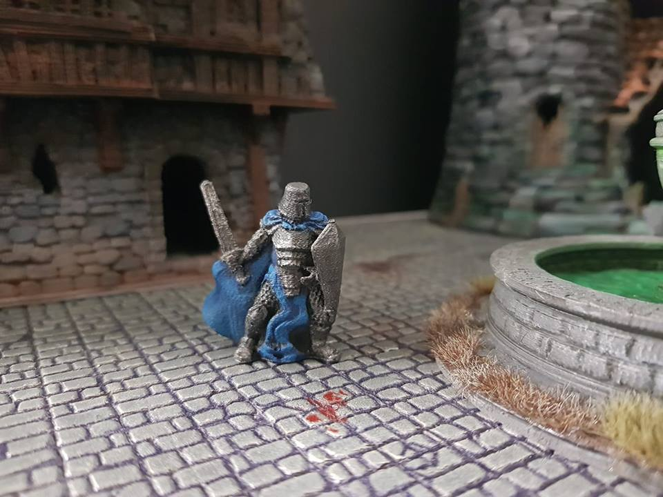 Knight  , printed and painted by  Mark Gladman