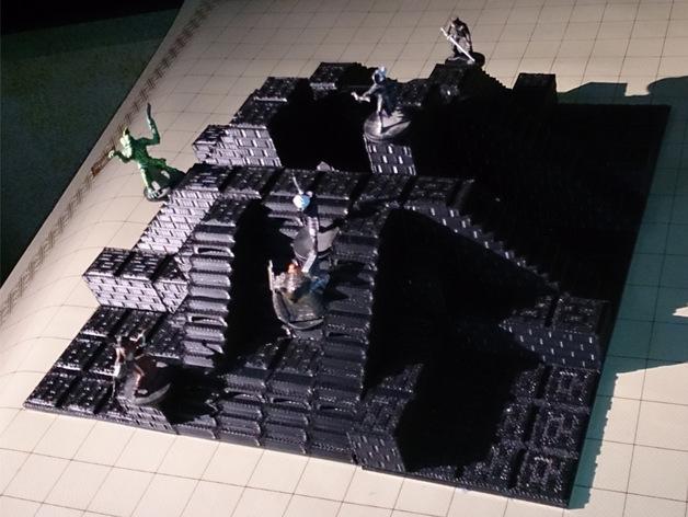 Dungeon Blocks  , printed by  Leandra Schneider