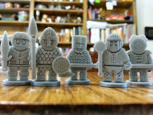 Dungeon Dolls  , printed (and assembled) by  Avi Thomas