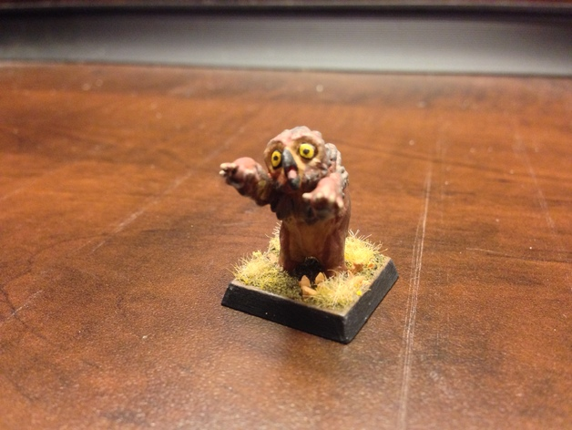 Baby Owlbear  , printed and painted by  James P Waker