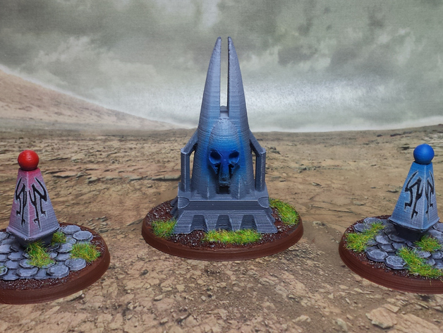 Dark Reliquary   and   Alien Monuments  , printed and painted by  Alpha Flight