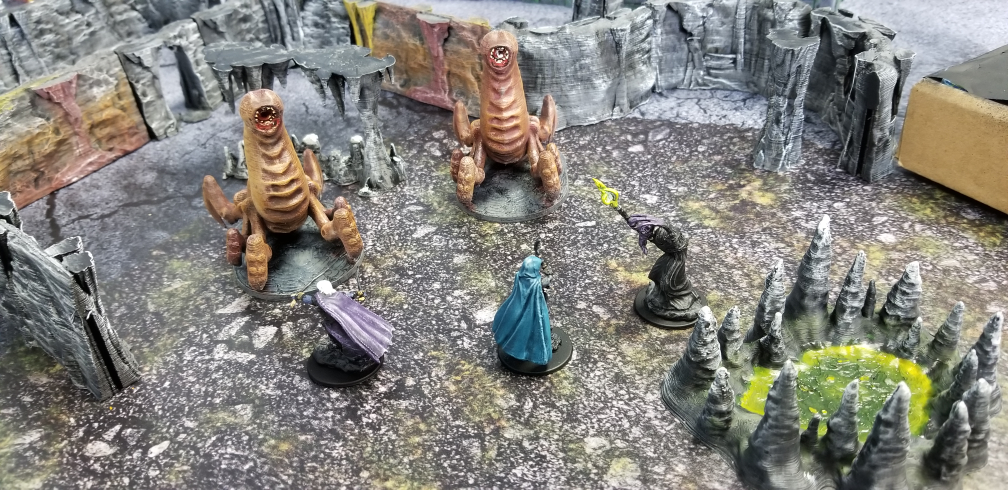Cave Worms  , printed and painted by  James Tate