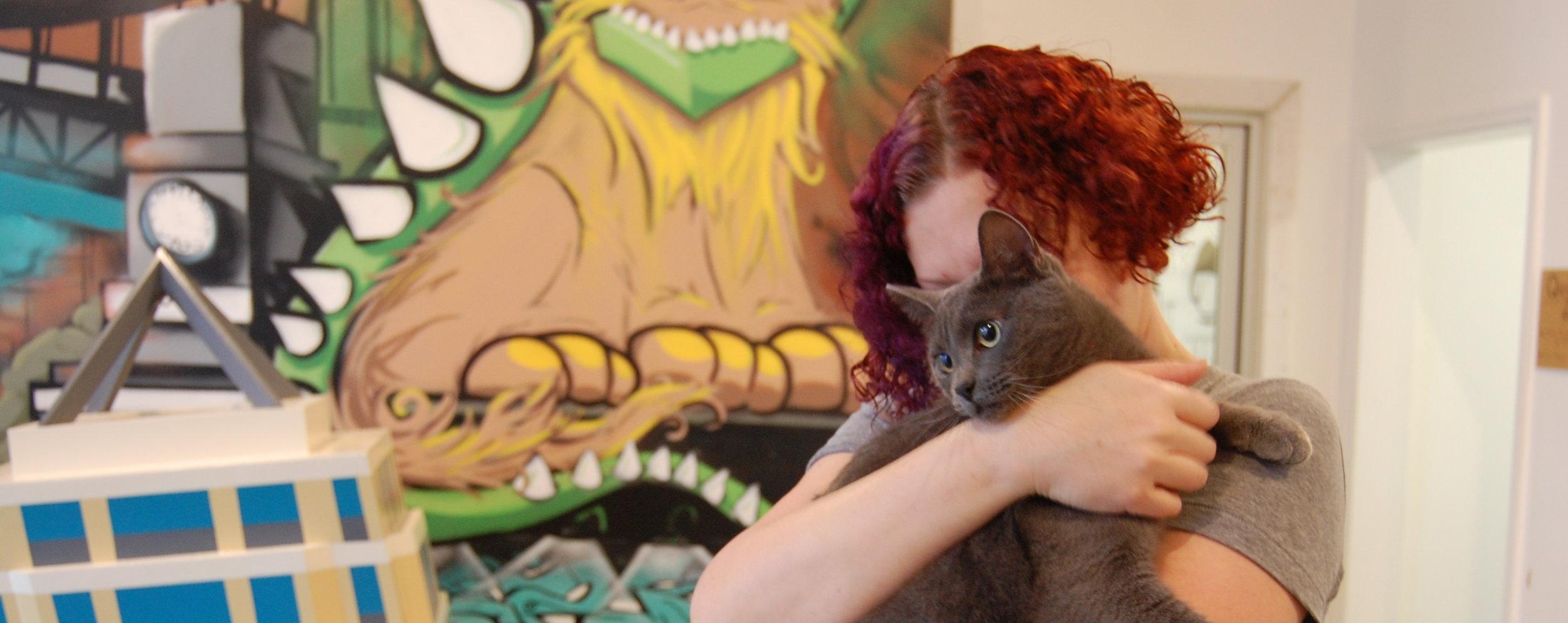 Erin hugs Elise goodbye before sending her off to her adoptive home.