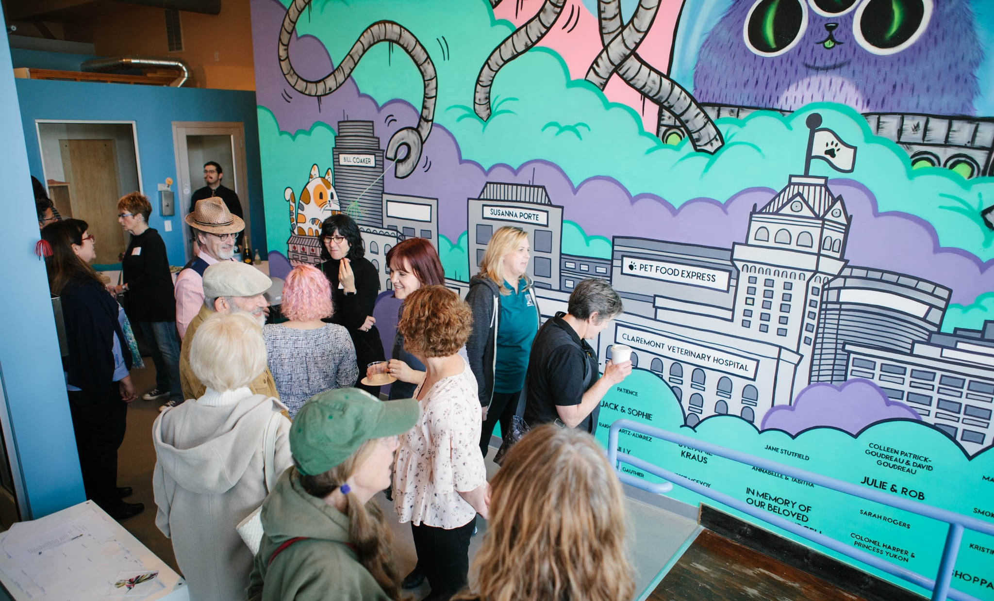 This mural honors our community, whose generosity goes above and beyond to help cats with nowhere else to turn.