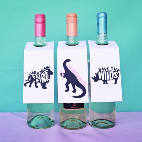 Printable Wine Labels - Brittany Garner Designs' fun wine labels
