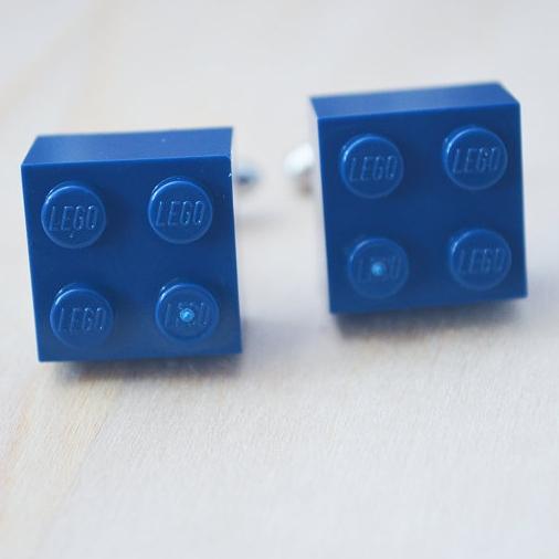 Lego Cufflinks - Her Silver Lining