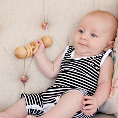 Classic Wooden Rattle - Bannor Toys