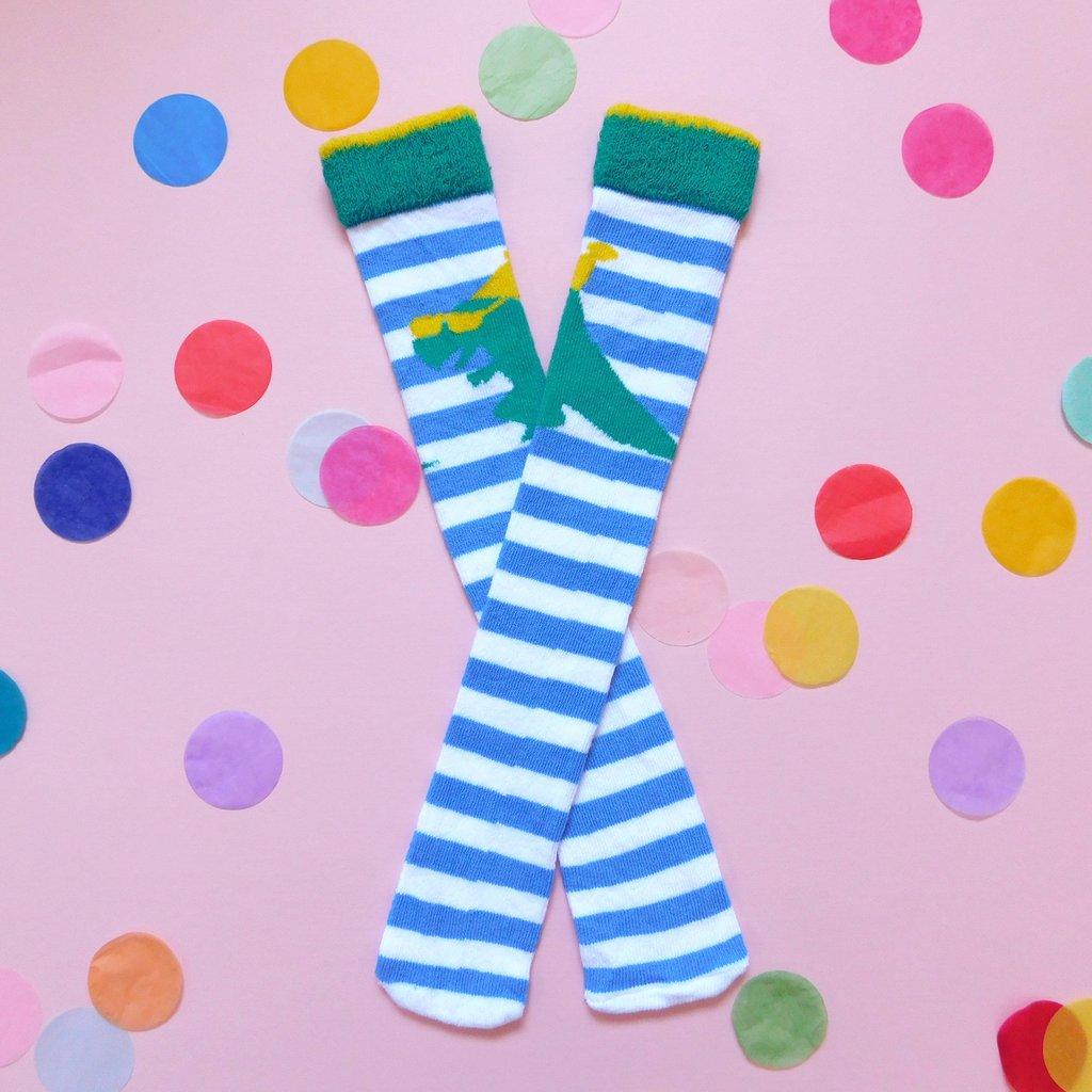 Party Dinosaur Socks - Truly Handmade Everything