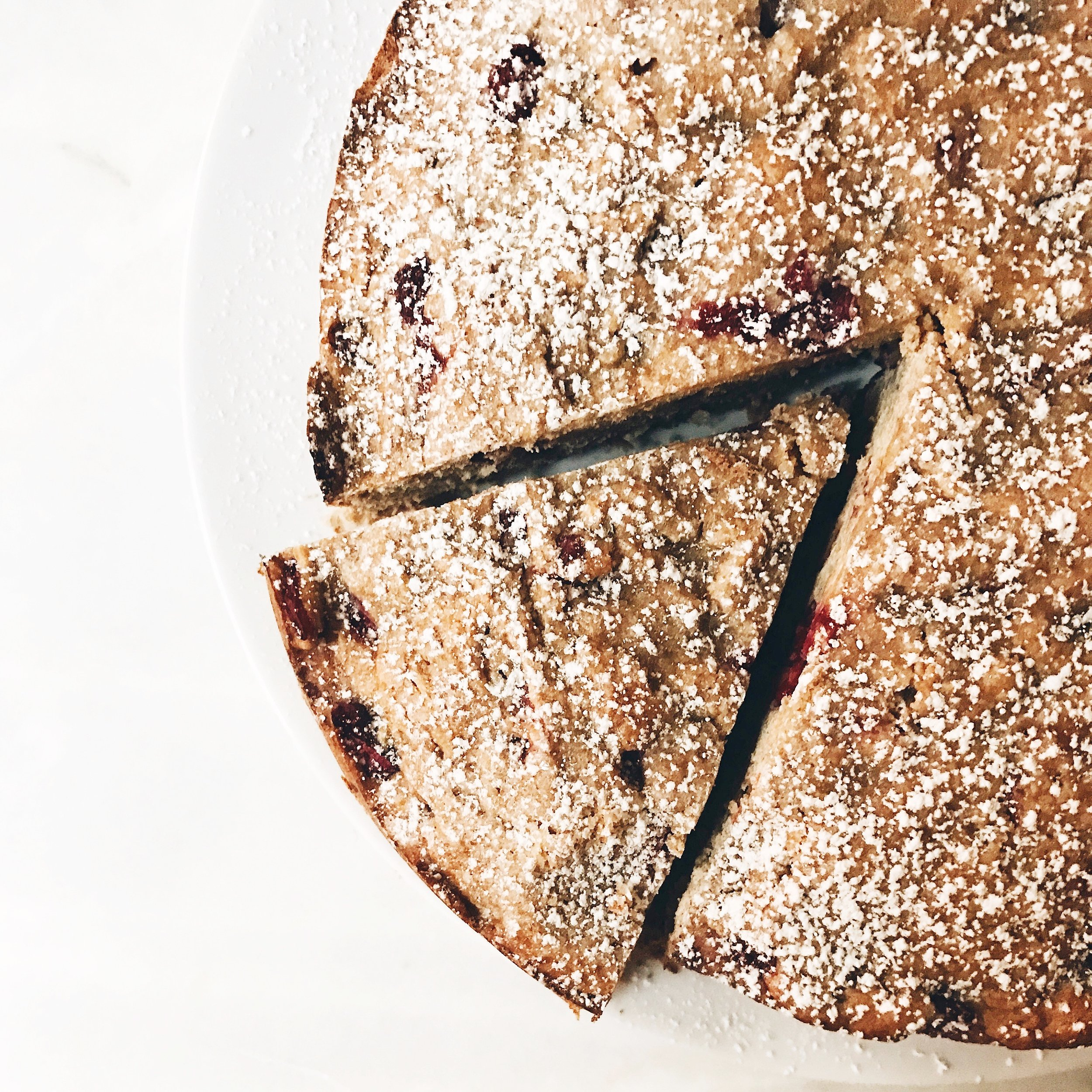 Gluten Free Cranberry Streusel Cake