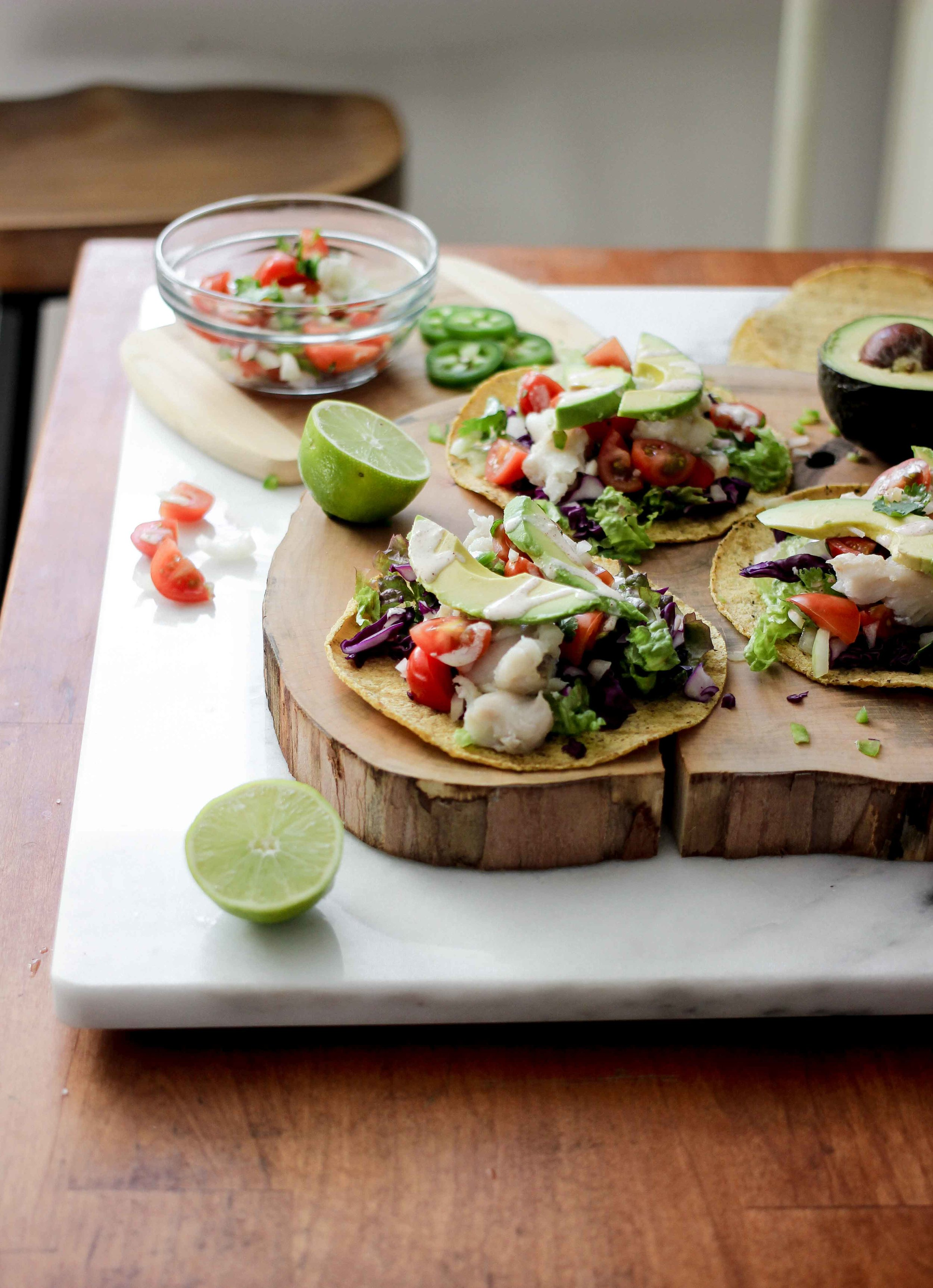 Authentic Mexican Tacos - Mexican Baja California Fish Tacos With Homemade Chipotle Aioli - The Well Essentials