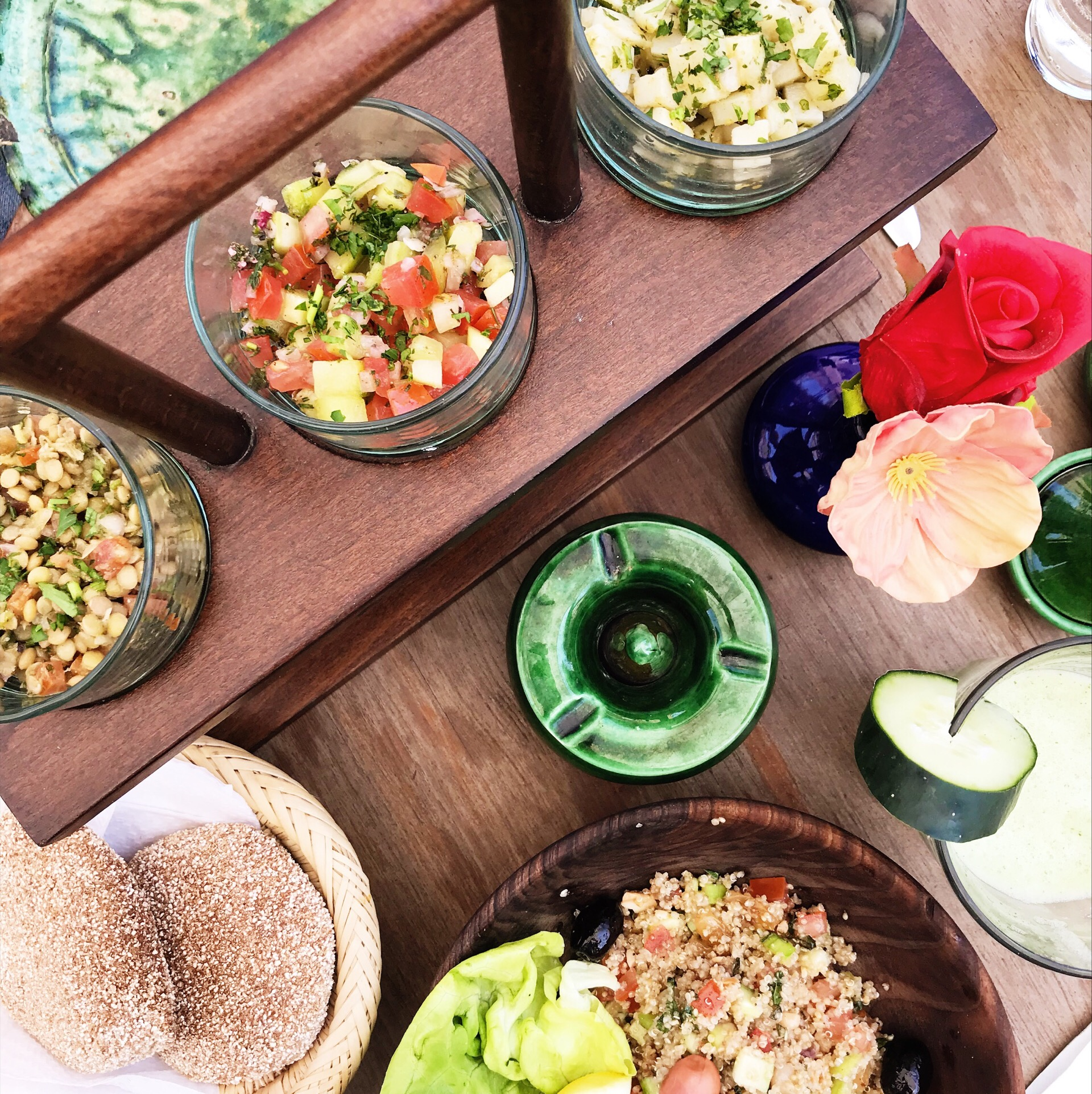 Traditional Moroccan Assorted Salads (I never encountered one that wasn't gluten free)