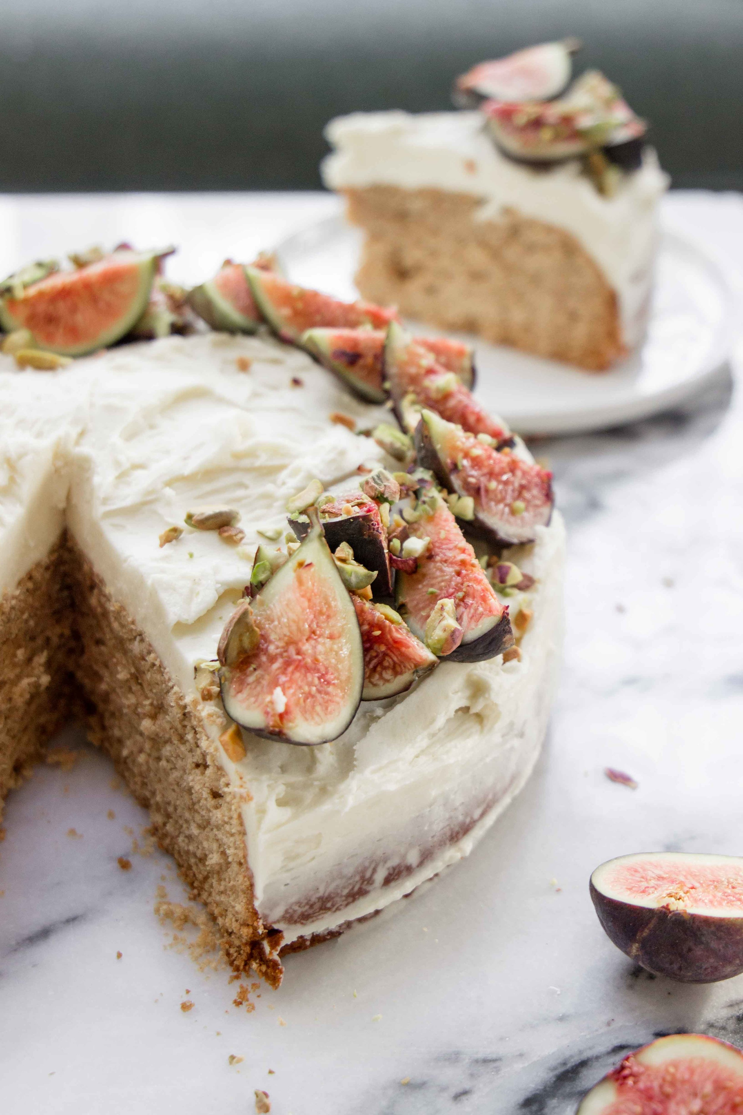 Spiced Chai Fig Cake With Vanilla Buttercream (gluten free) - The Well Essentials