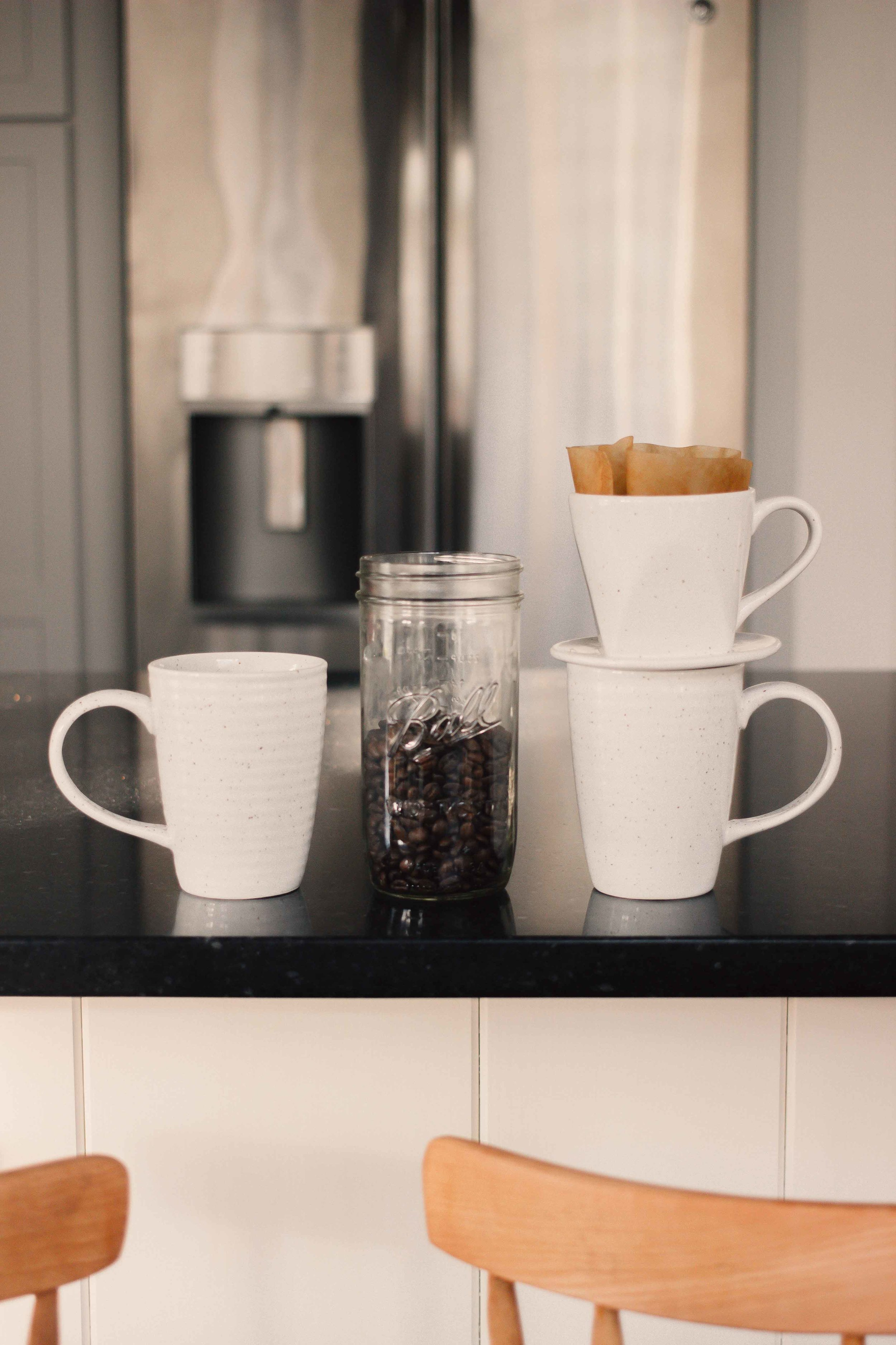 Pictured above is the  fair-trade ceramic pour-over coffee maker  and cup by Ten Thousand Villages #partner