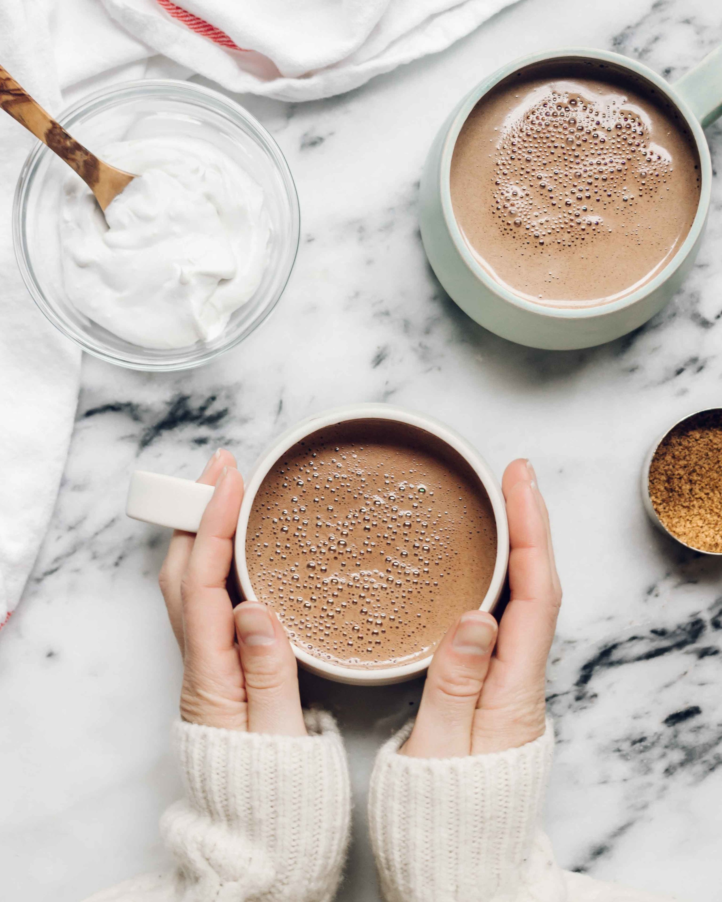 Peruvian Hot Chocolate 'Chocolatada Navideña' - This dairy free hot chocolate is a decadent traditional drink perfect for the holidays #glutenfree #dairyfree #peru #hotchocolate #christmasrecipes
