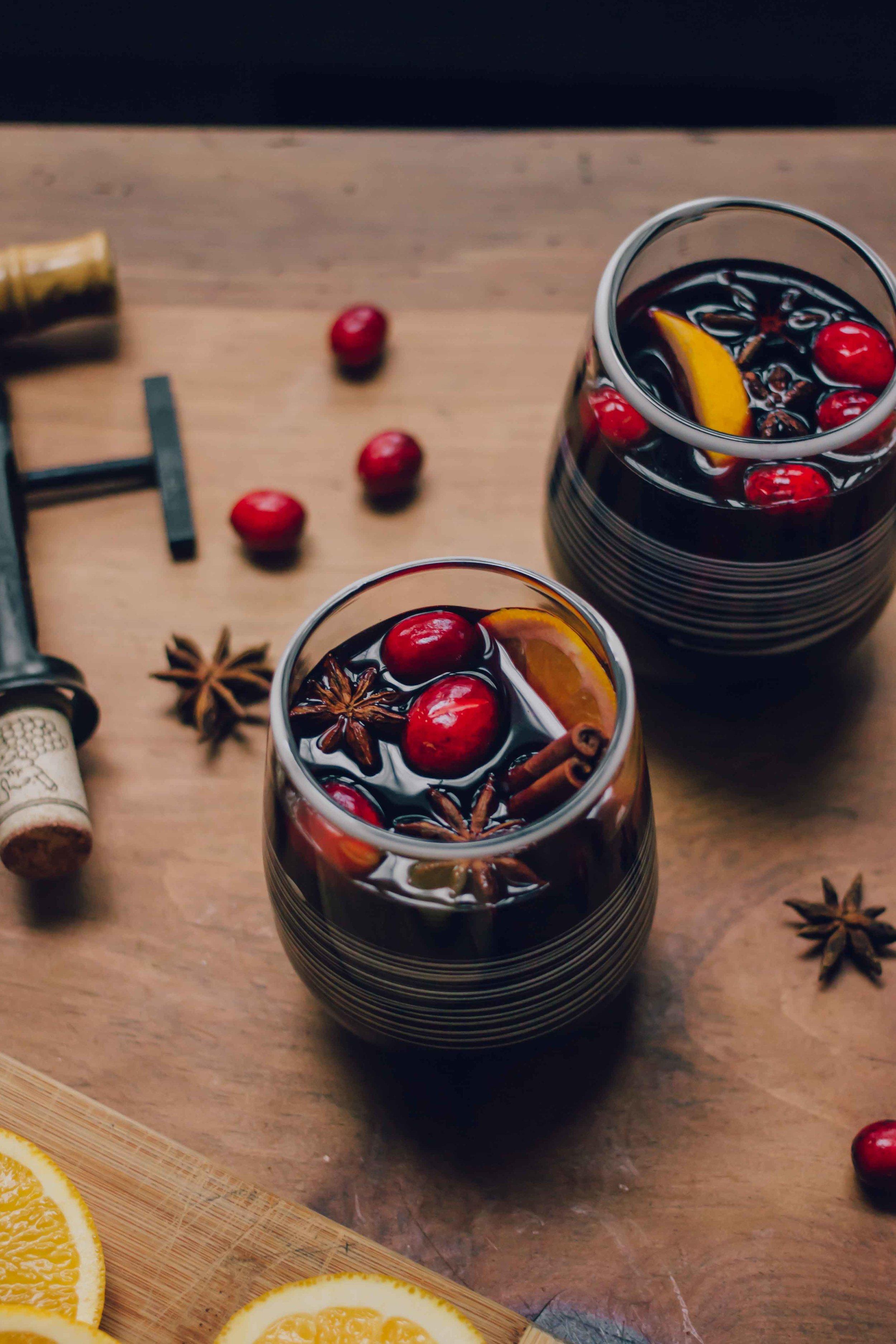 Austrian Glühwein Mulled Wine - The Well Essentials #christmas #wine #cocktails #winter #austria