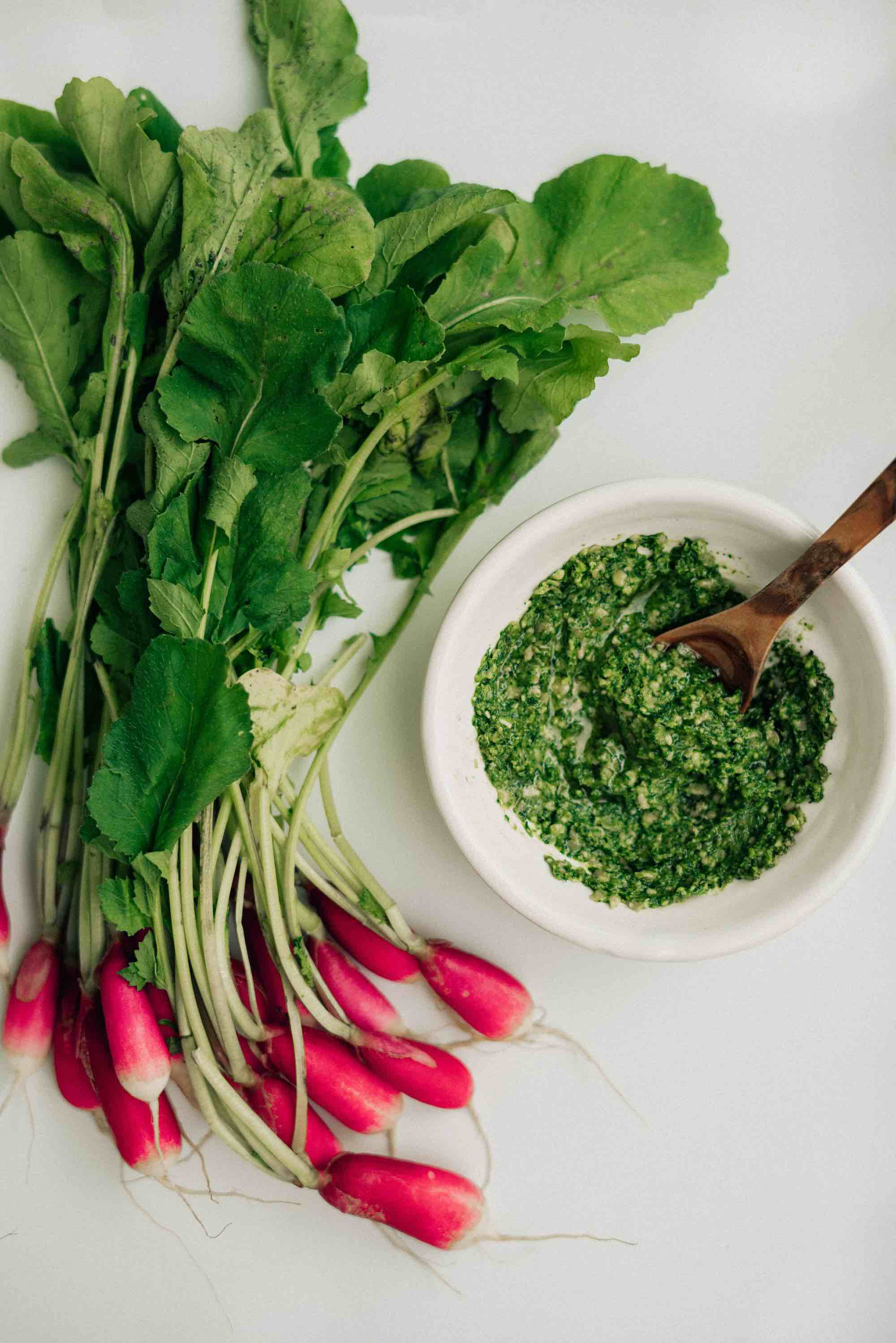 5 Ingredient Homemade Radish Greens Pesto Recipe