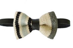 Cod.: B5.3- Lã com listras e couro café [R$ 100,00]