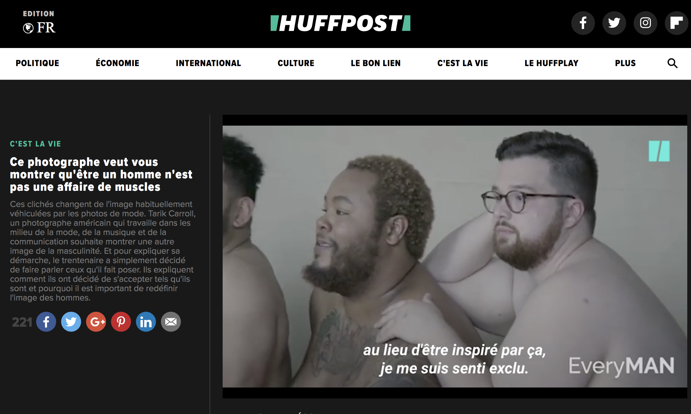 HUFFPOST FRANCE FEATURE