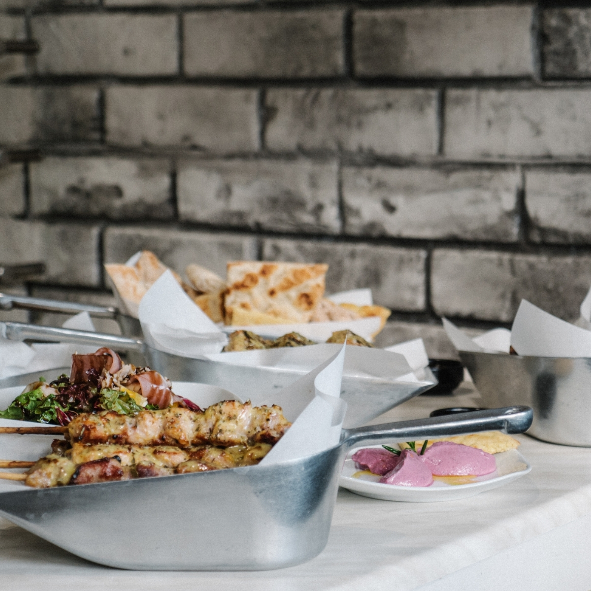 meals are served in scoops at sti sesoula souvlaki bar