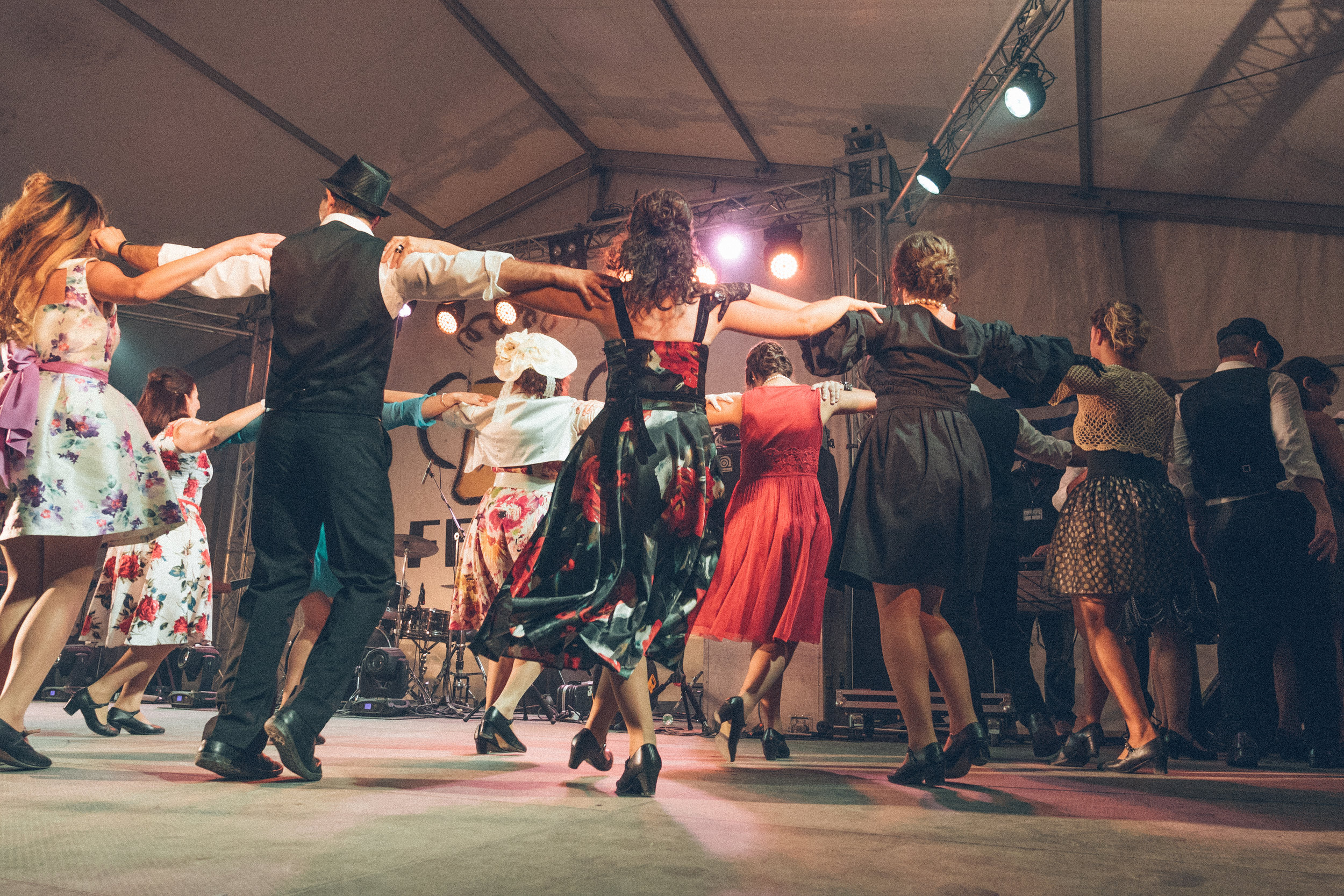 dancers at corfu beer fest in arillas