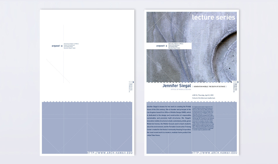 Newsletter/Lecture Poster