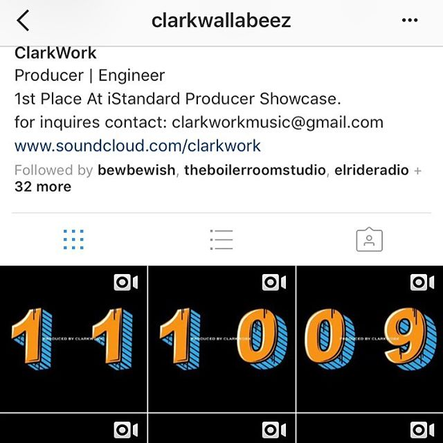 The boy @clarkwallabeez steady workin... you know who to call for that 🔥 #ClarkWork #StashSpotEnt #ClarkWorkYouAGenius