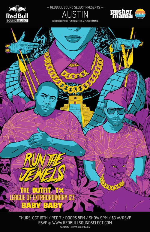 pOSTER FOR red bull sound select, featuring run the jewels. (work by   @Jiminai )