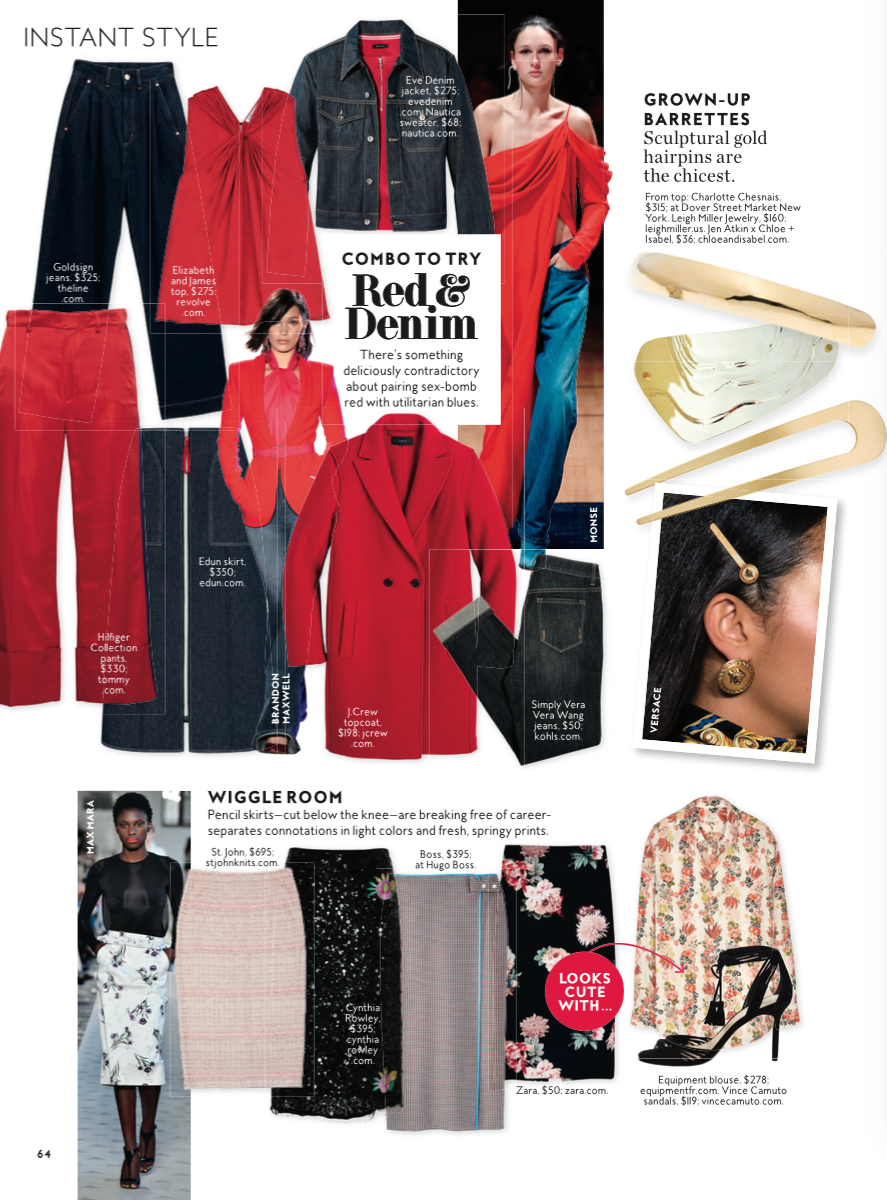 Kaila Jacket featured in InStyle February 2018