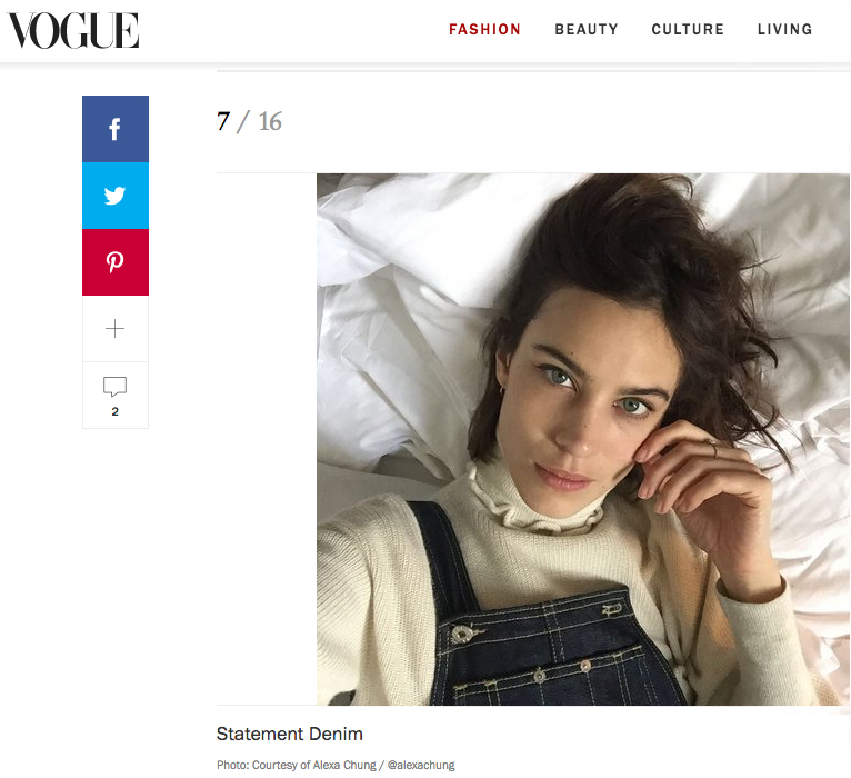 Alexa Chung in her Olympia Overall