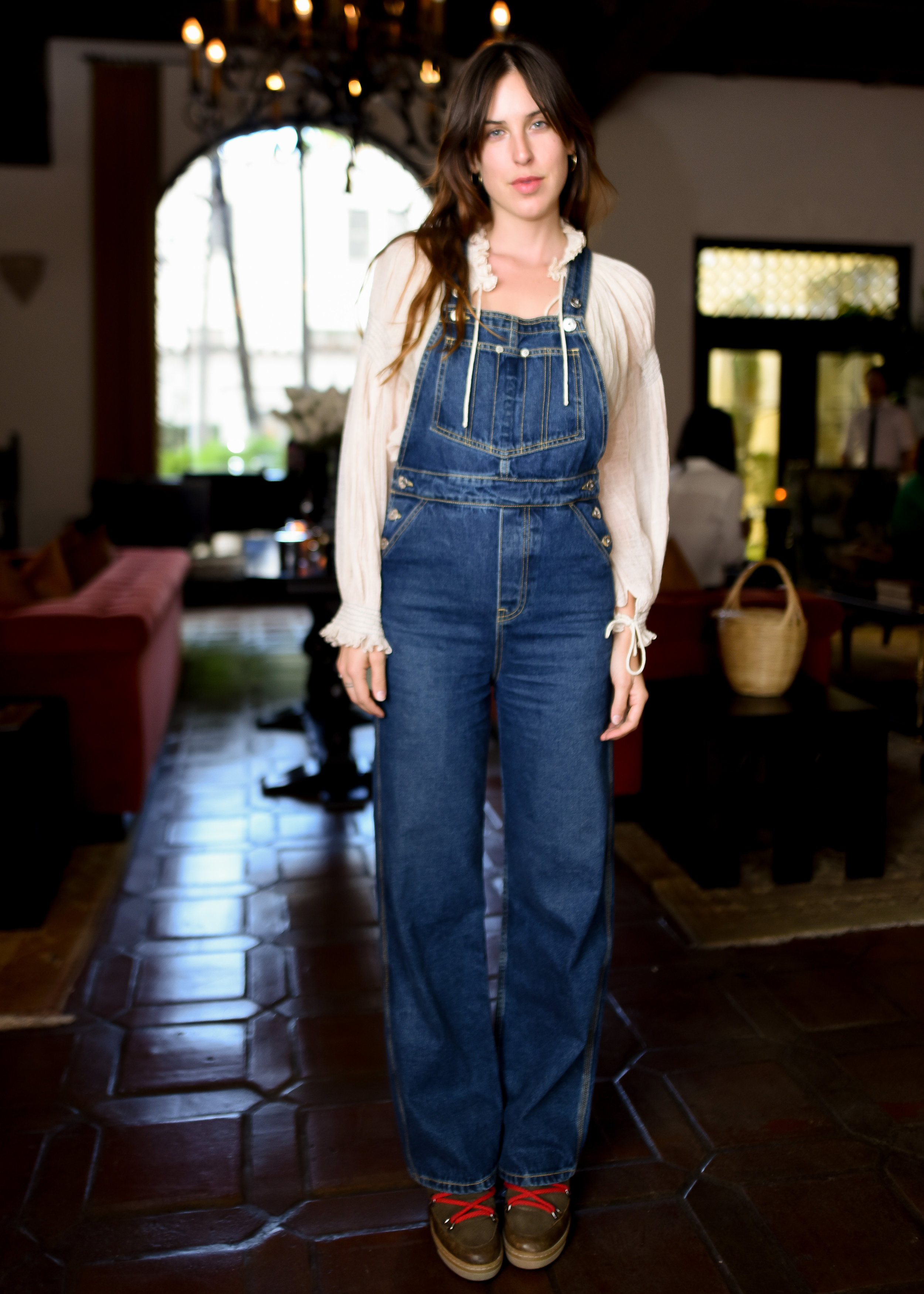 Tallulah Willis in  Olympia Overall Malibu wash  at Eve Denim x Gia Coppola Event