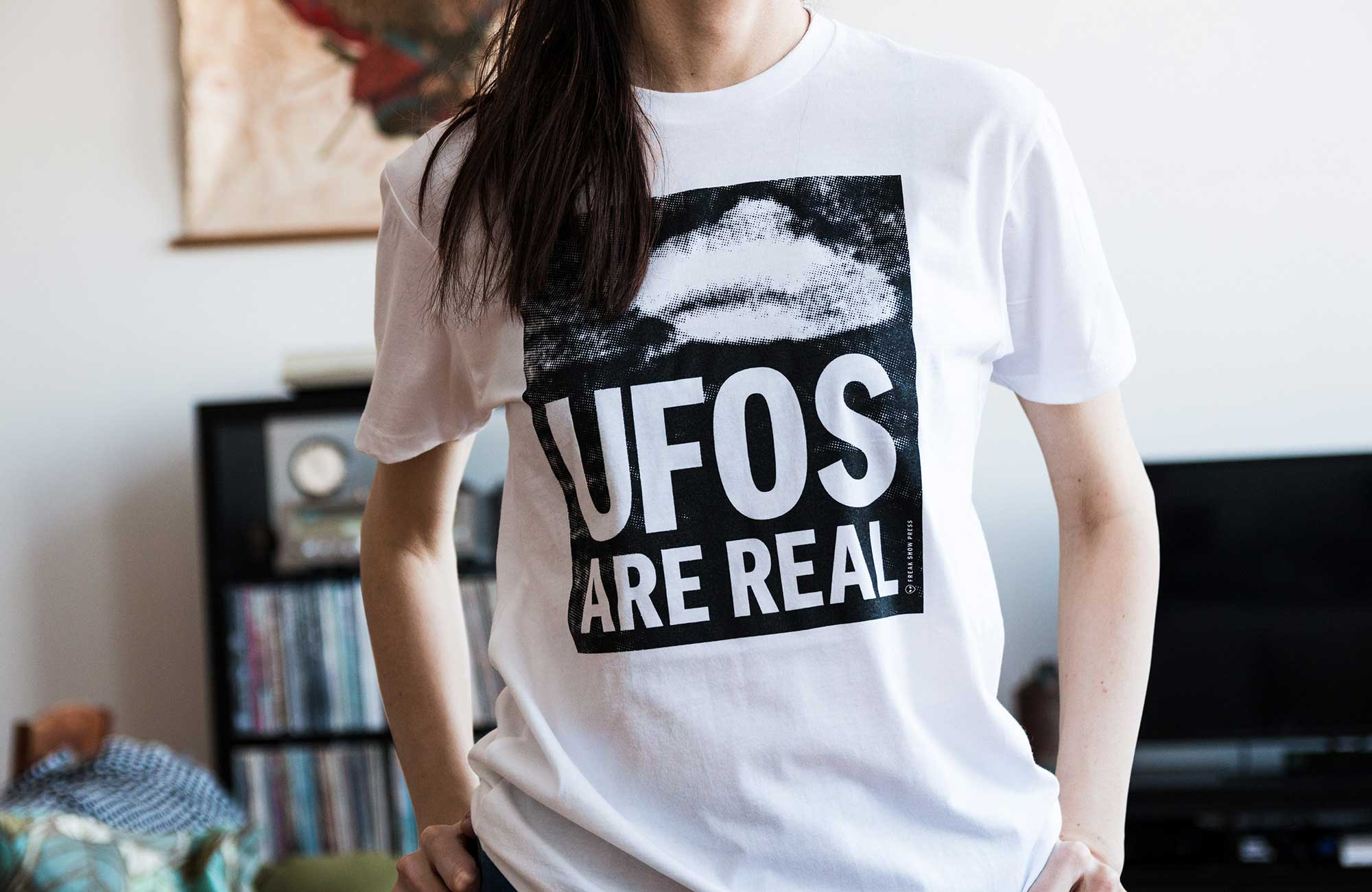 UFOS graphic typography shirt