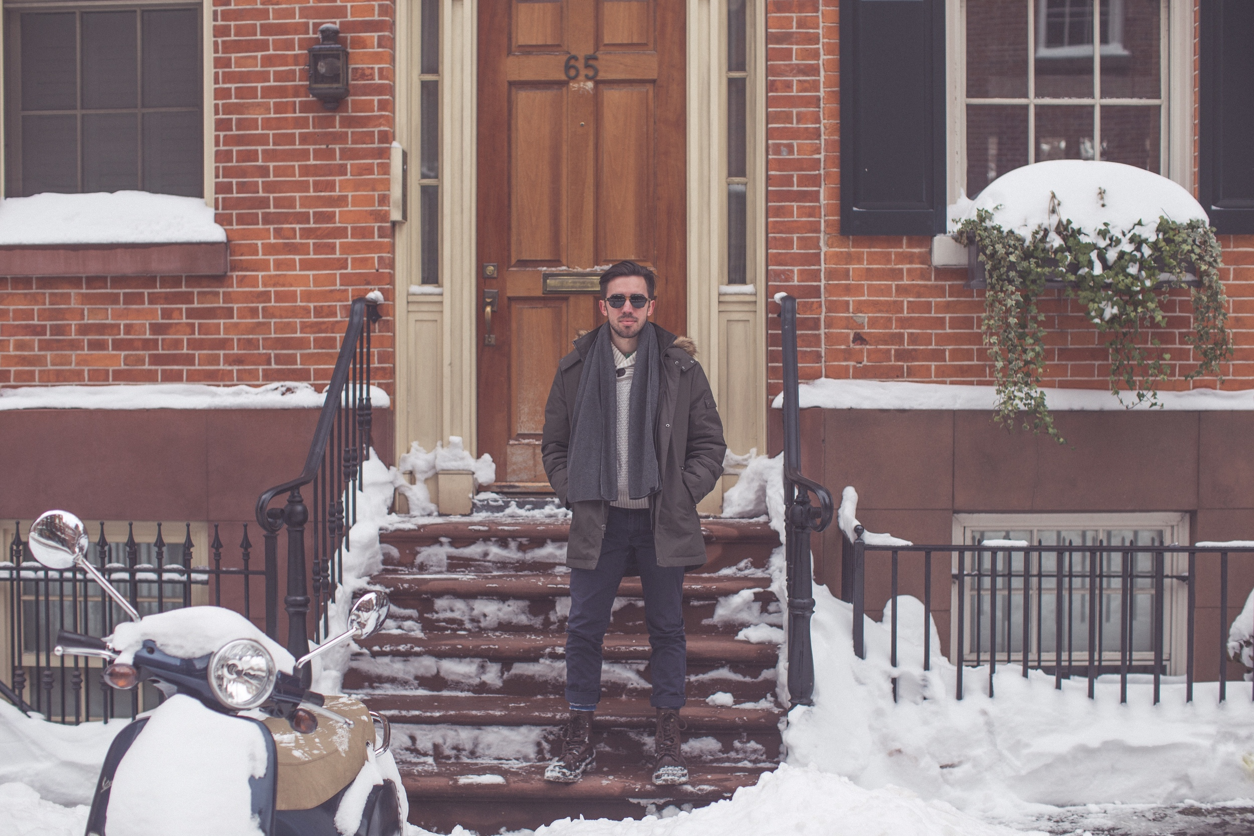 """I only wore my """"heavy jacket"""" a few times this year—many folks thought it was new. (West Vill)"""