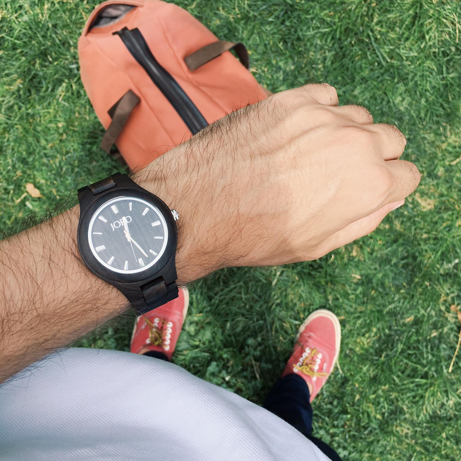 My watch:  Fieldcrest in Dark Sandalwood