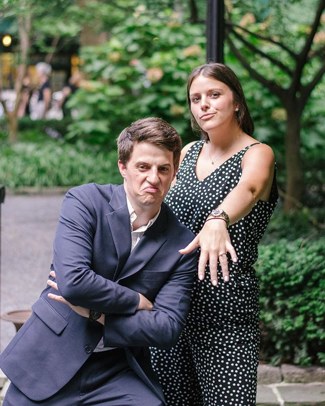 These crazy cats got engaged one year ago, and it was pretty epic (as was their wedding back in January)! 📸 #joyfilledthoughts