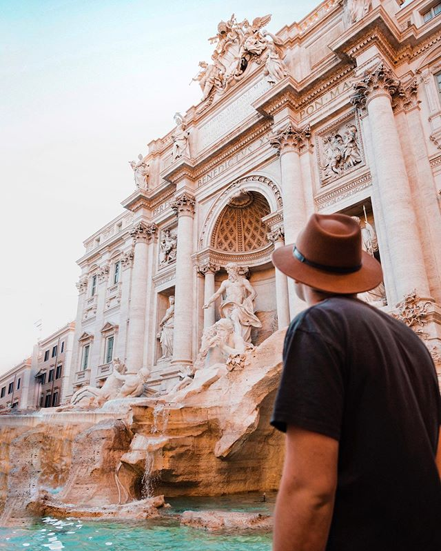 Legend has it that if you throw three coins into the Trevi Fountain, you'll find love and marriage when you return home. I threw in my credit card...