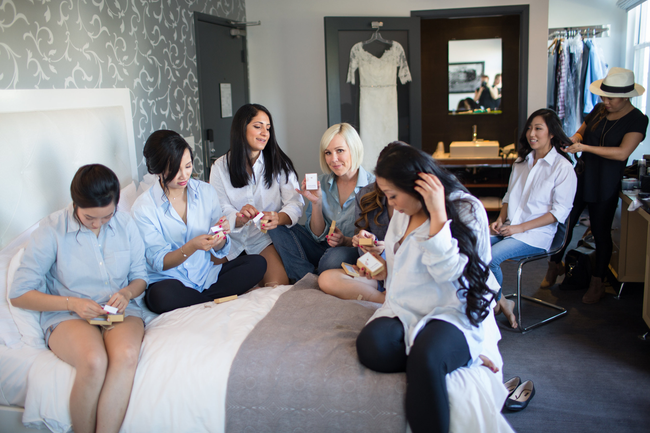 Bridesmaids Open Gifts