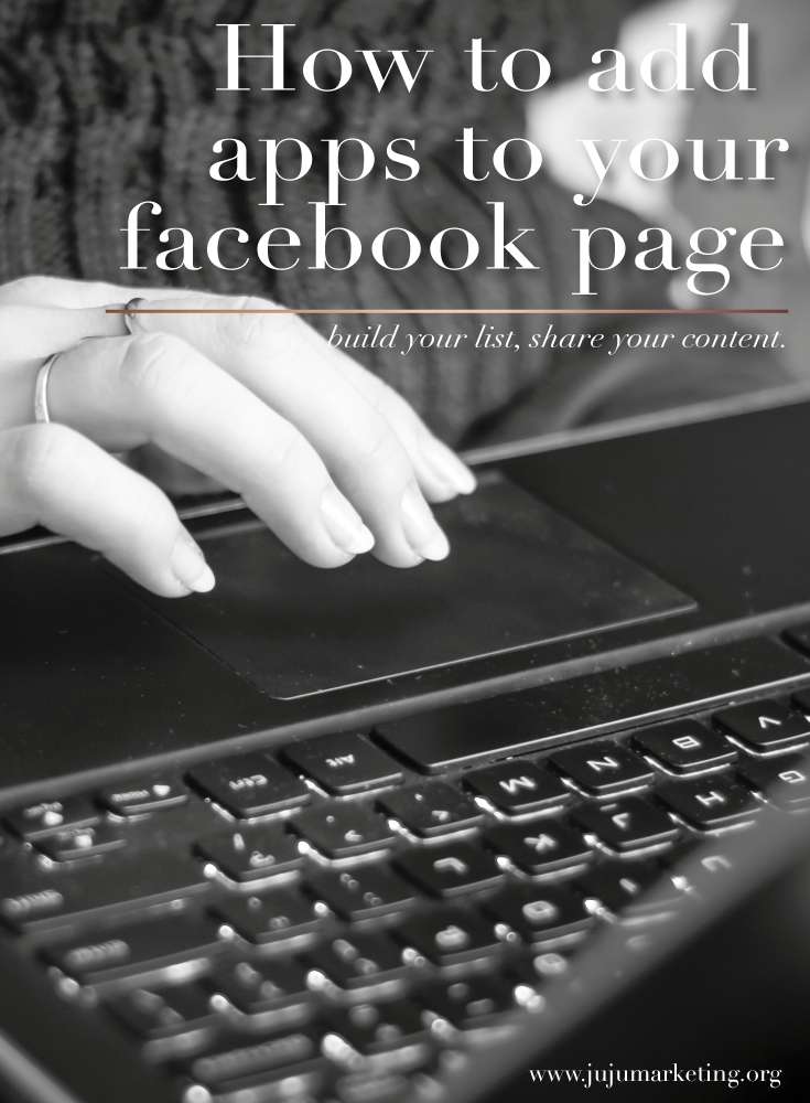 How to add facebook apps to your page