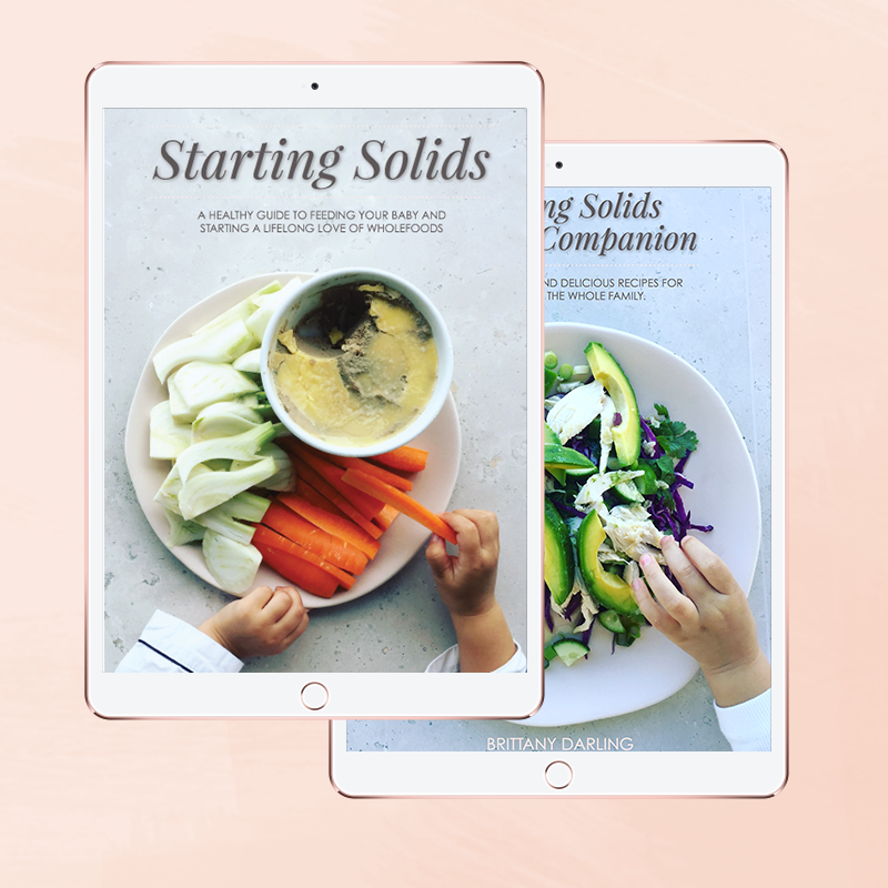 STARTING SOLIDS E-BOOK & KITCHEN COMPANION BY  BRITTANY DARLING, WHOLEFOOD HEALING