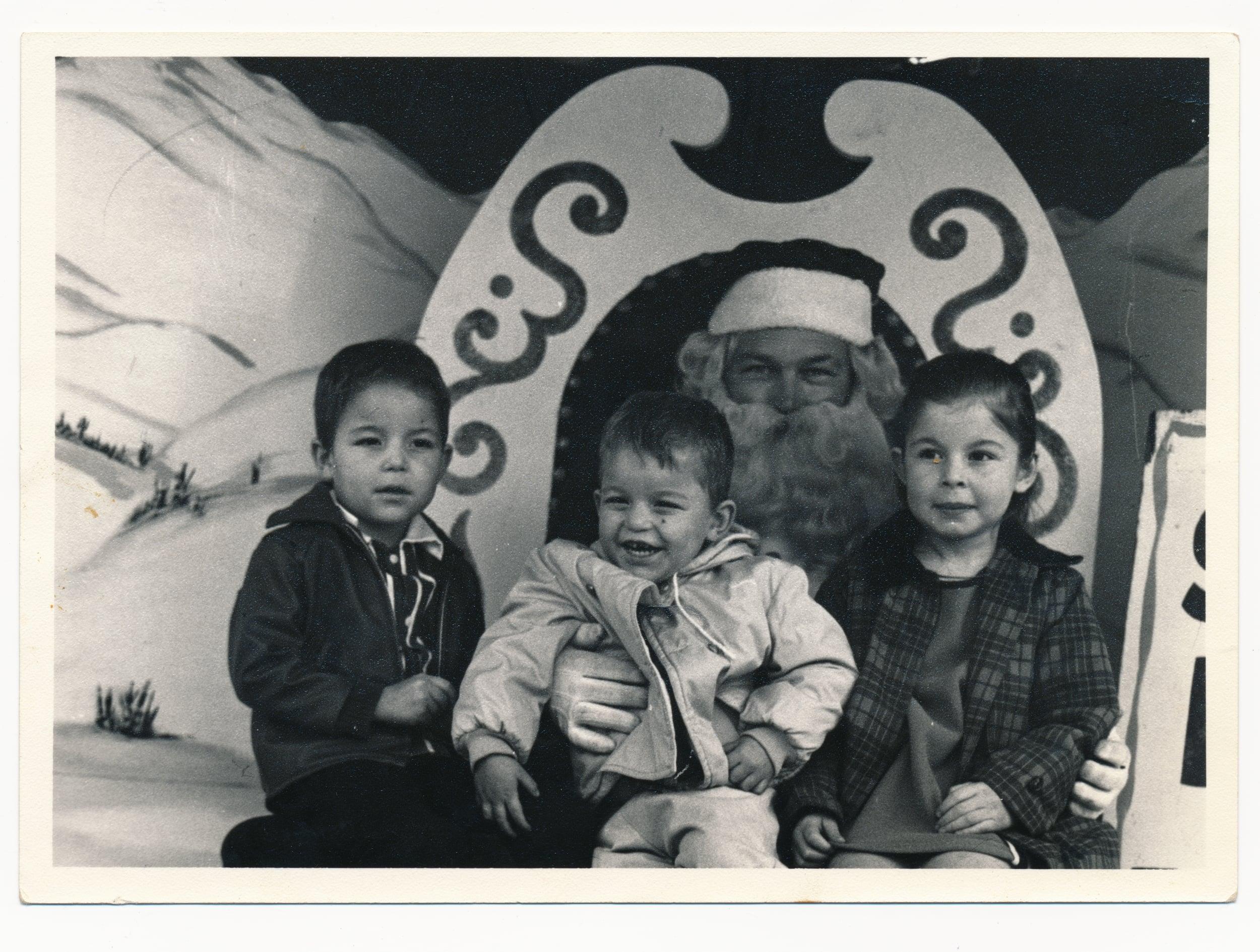 Hurtado Children with Santa