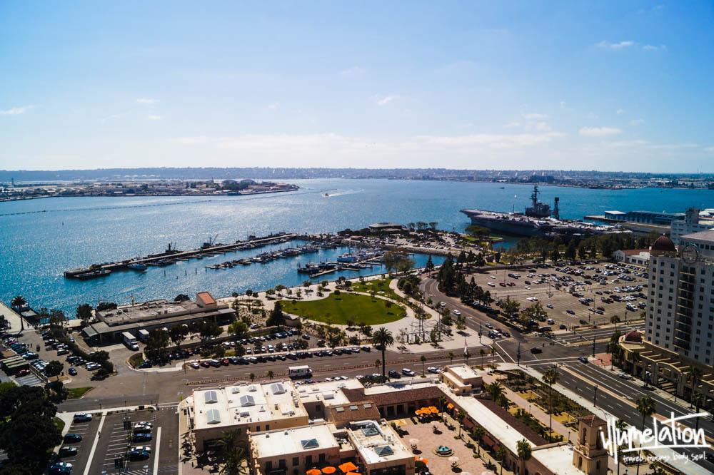 San Diego Bay view from Hyatt